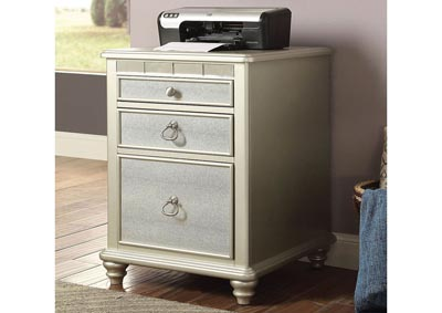 Anne Silver File Cabinet w/Power & USB