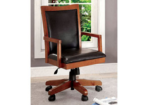 Rhonda Oak Height Adjustable Office Chair