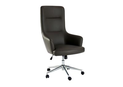 Bonner Gray Padded Leatherette Office Chair w/Pneumatic Adjustable Height