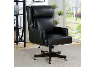 Bonner Black Leatherette Office Chair w/Pneumatic Adjustable Height