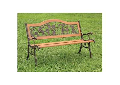 Alba Brown Patio Bench