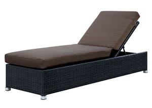 Albee Brown/Espresso Patio Chaise