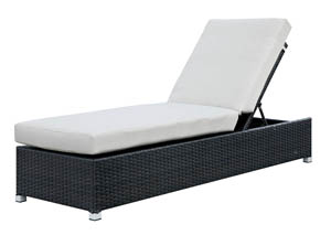 Albee Ivory/Espresso Patio Chaise