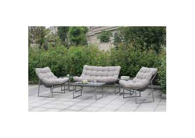 Image for Amya Gray Patio Set (Loveseat, 2 Chair, Coffee Table & 2 End Tables)