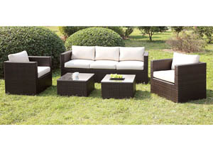 Olina White Patio Sofa Set