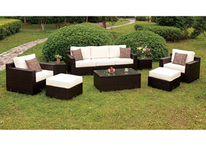 Helina White 8 Piece Patio Sofa Set