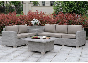 Bushnell Gray Sectional w/Corner Table