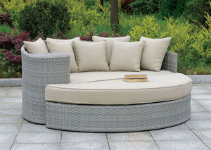 Calio Grya Round Patio Sofa & Ottoman