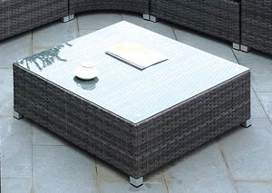 Morgana Dark Gray Wicker Coffee Table