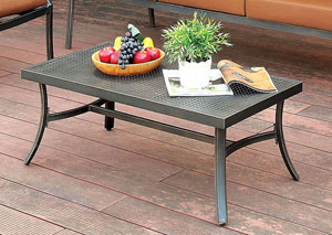 Bonquesha Distressed Black Aluminum Coffee Table