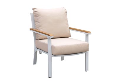 Anishan White/Oak Patio Chair