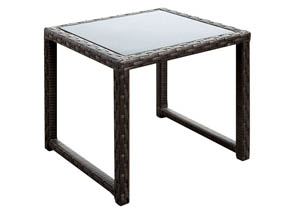 Faro Espresso Wicker Patio Table