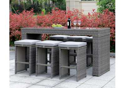 Ismay Gray Patio Table