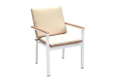 Aisha White/Oak Chair (2/Ctn)