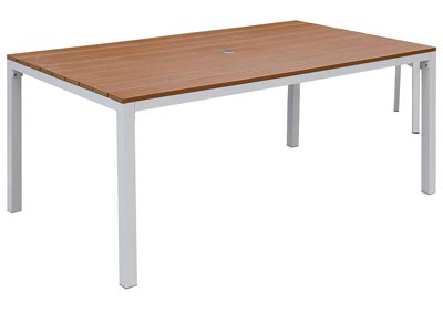 "Image for Aisha White/Oak 69"" Table"