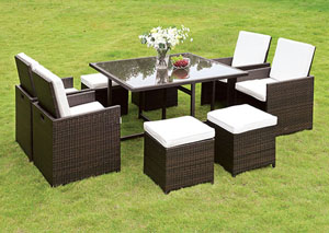 Keisha 9 Piece Patio Dining Set