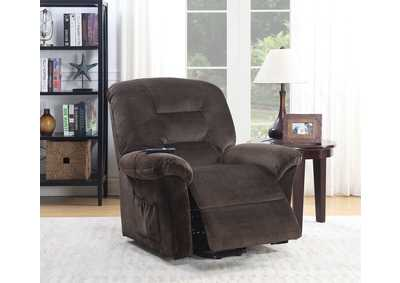 Ovar Brown Chenille Power Recliner