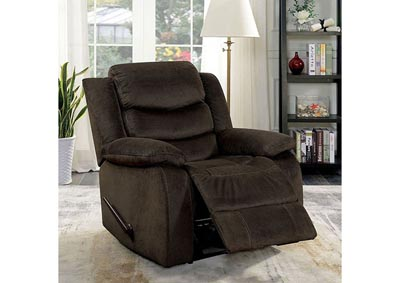 Dena Brown Leather Glider Recliner