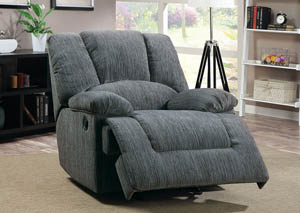 Norden Grey Chenille Fabric Power Lift Recliner
