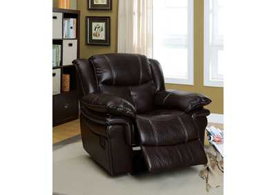 Cordova Dark Brown Leatherette Recliner