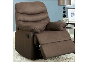 Plesant Valley Light Brown Microfiber Recliner