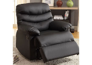 Plesant Valley Black Bonded Leather Recliner