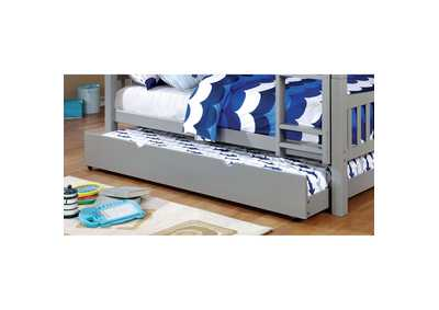 Omnus Gray Twin Trundle