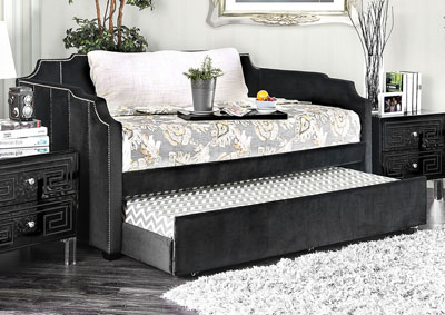 Esperanza Black Upholstered Twin Daybed