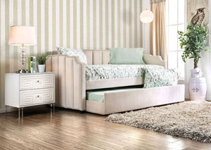 Esperanza Beige Upholstered Twin Daybed