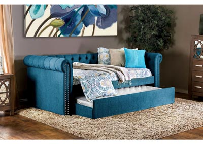 Leanna Dark Teal Daybed w/Trundle