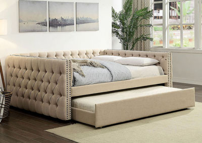 Suzanne Ivory Queen Trundle