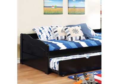 Sunset Black Twin Daybed w/Trundle