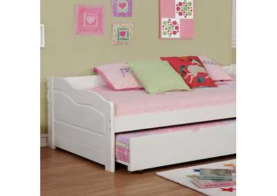 Sunset White Twin Daybed w/Trundle