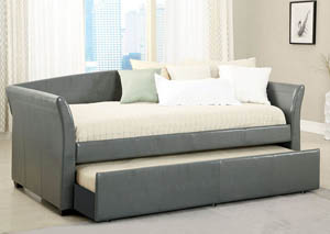 Delmar Grey Daybed w/Twin Trundle & Casters