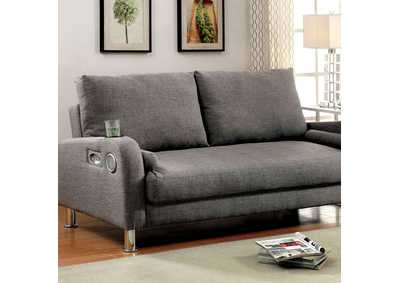 Image for Raquel Gray Futon Sofa