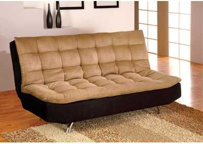 Image for Mancora Tan/Black Futon Sofa