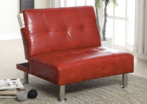 Bulle Red Chair w/ Side Pockets On Both Sides