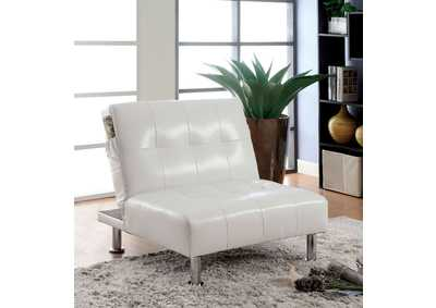 Bulle White Chair w/ Side Pockets On Both Sides