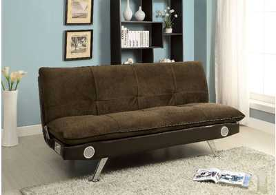 Image for Gallagher Brown Futon Sofa w/ Bluetooth Speaker