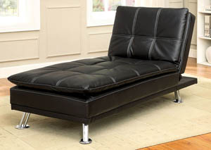 Hauser II Black Chaise