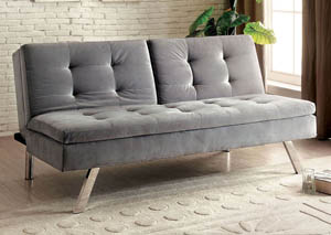 Valier Gray Split-back Futon Sofa