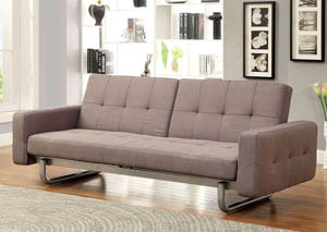 Bolton Brown Split-Back Futon Sofa