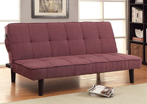 Denny Purple Futon Sofa