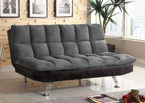 Image for Tigray Gray Leatherette Futon Sofa