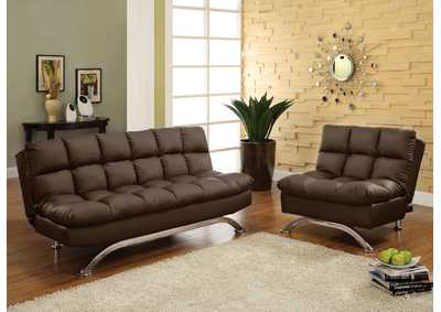 Aristo Dark Brown Futon Sofa