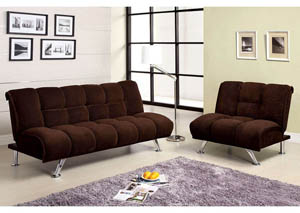 Maybelle Brown Corduroy Futon Sofa