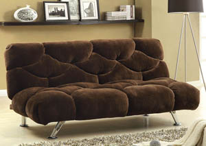 Bendi Chocolate Champion Fabric Futon Sofa