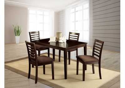Eaton I Espresso 5 Pc Dining Table Set