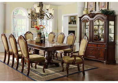Napa Valley Dark Cherry Extension Dining Table w/6 Side Chairs
