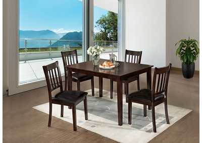 West Creek I Espresso 5 Pc Dining Table Set